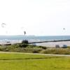 Kiter am Strand in Stein.Ostsee